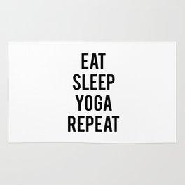 Eat sleep yoga repeat Rug