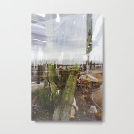 Cactus Ocean Abstraction Metal Print