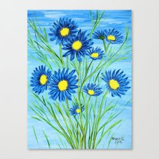 Blue Daisies  Canvas Print
