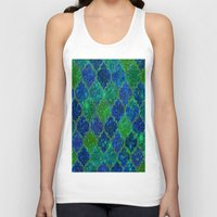 moroccan Tank Tops featuring Glitter Moroccan by Saundra Myles