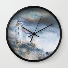 Gull Island Lighthouse Wall Clock