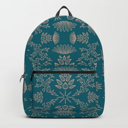 Thistle Outline on Blue Backpack