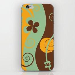 Modern Retro Floral Graphic Art iPhone Skin