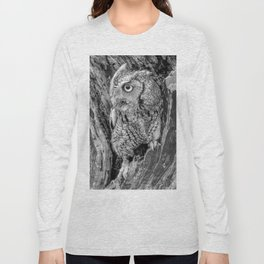 Echo the Screech Owl by Teresa Thompson Long Sleeve T-shirt