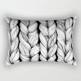 Knitted Rectangular Pillow