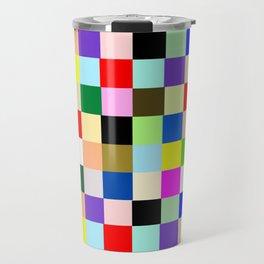 Colorful Squares Travel Mug