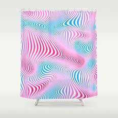 DISTORTION COLD Shower Curtain