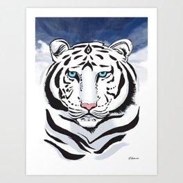Tiger of winter | O Tigre do inverno Art Print