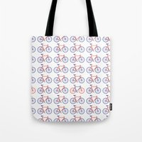 bikes Tote Bags featuring Bikes  by Keep It Simple