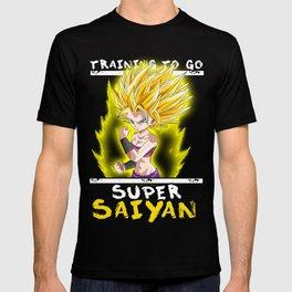 Training to go super saiyan - Caulifla T-shirt
