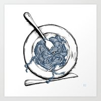 pasta Art Prints featuring Pasta!! by EGARCIGU
