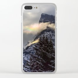 Mount Rundle's Rainbow Clear iPhone Case