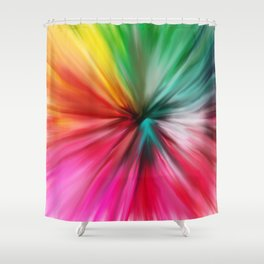 Modern abstract artsy colorful paint pattern Shower Curtain
