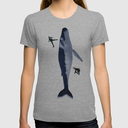 Whales and cities T-shirt