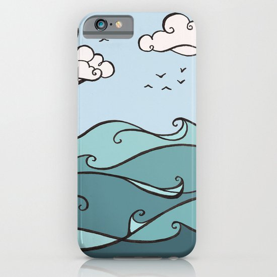 Clouds and Waves iPhone & iPod Case