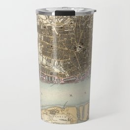 Vintage Map of Liverpool England (1872) Travel Mug