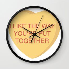 Champ Kind Conversation Heart Wall Clock