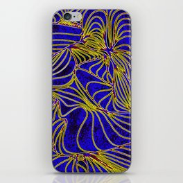 Curves in Yellow & Royal Blue iPhone Skin