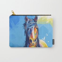 Horse Beauty - colorful animal portrait Carry-All Pouch