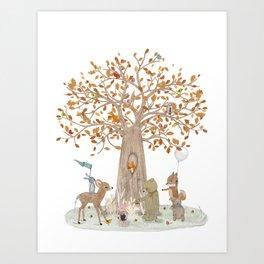 the little oak tree Art Print