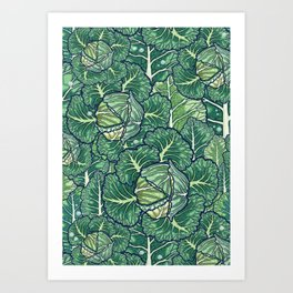 dreaming cabbages Art Print