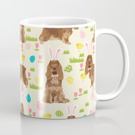 Cocker Spaniel easter eggs easter bunny cute spring dog pattern design for spaniel owners Coffee Mug