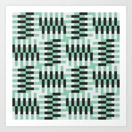 Cha cha cha in mint green Art Print