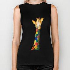 Giraffe Watercolor Print Biker Tank