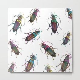 Christmas Beetles neon Metal Print