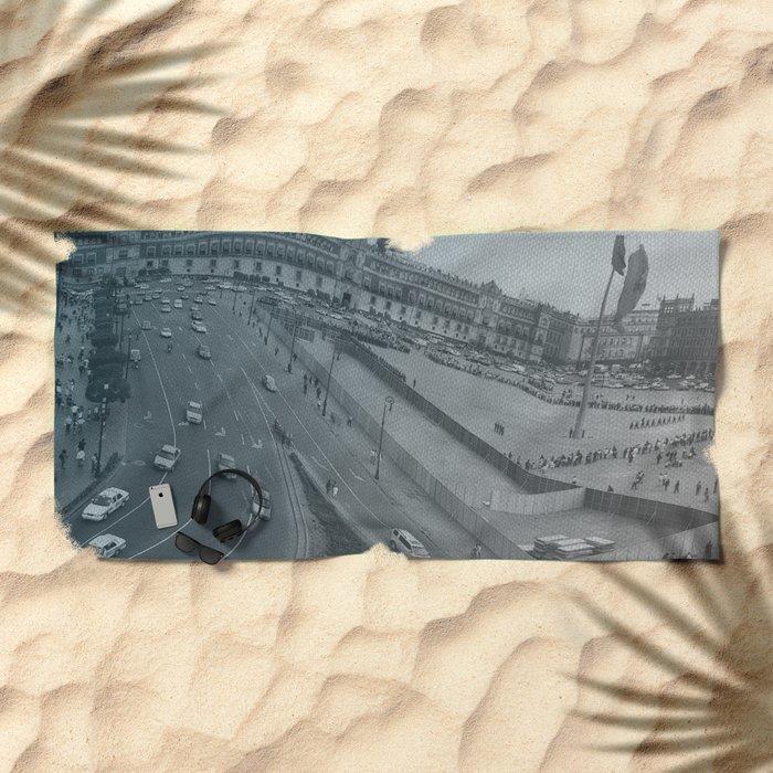 Plaza Zocalo, Mexico-city Beach Towel