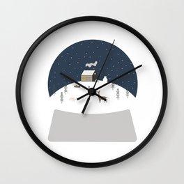 Snowglobe Wall Clock