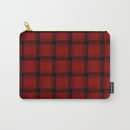 Large Dark Red Weave Carry-All Pouch