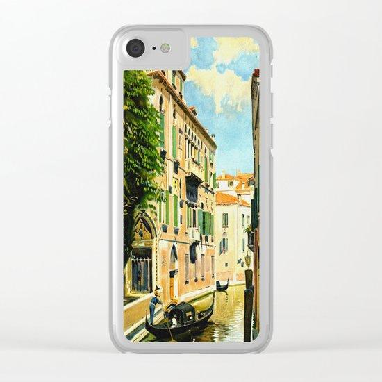 Venezia - Venice Italy Vintage Travel Clear iPhone Case