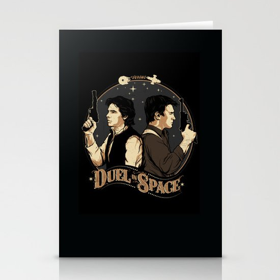 Duel in Space Stationery Cards