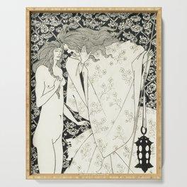 Aubrey Beardsley - The Mysterious Rose Garden Serving Tray