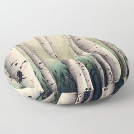 Birch wood at Midsummer Floor Pillow