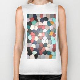 Colorful Mosaik Pattern Design Biker Tank