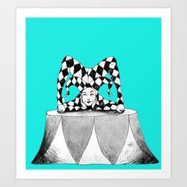 Jester contortionist Art Print