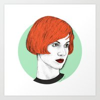 hayley williams Art Prints featuring Hayley by Iiris Ella