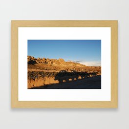 Sunset with shades and lamas Framed Art Print