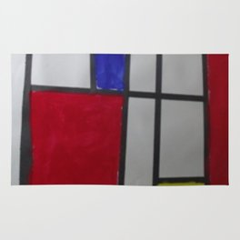 Child Art Paper Paint Window Abstract Rug