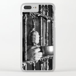 Thirsty for trouble... Clear iPhone Case