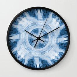 Blue Abstract Turbine Wall Clock