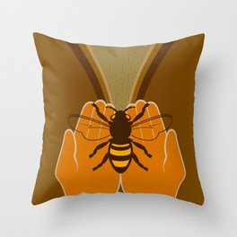Save the Bees Throw Pillow