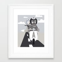 vespa Framed Art Prints featuring VESPA by tonadisseny