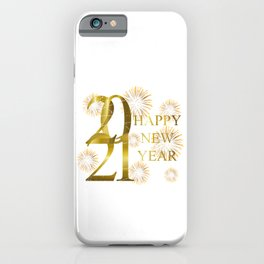 New Year 2021 Fireworks iPhone Case