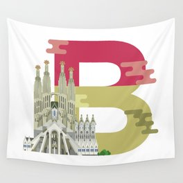B for Barcelona Wall Tapestry
