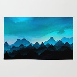 Night Storm In The Mountains Rug