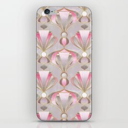 Rose Pink, Grey and Gold Art Deco iPhone Skin