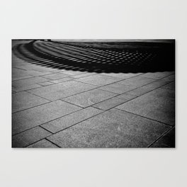 Abstract Black and White-The Bandshell Canvas Print